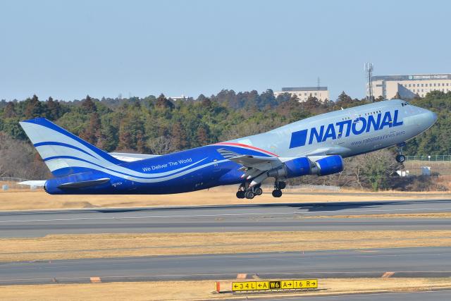 フリューゲルさんが、成田国際空港で撮影したナショナル・エアラインズ 747-428(BCF)の航空フォト(飛行機 写真・画像)