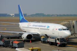 yabyanさんが、スカルノハッタ国際空港で撮影したガルーダ・インドネシア航空 737-34Sの航空フォト(飛行機 写真・画像)