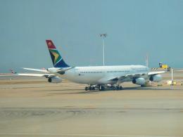 yabyanさんが、香港国際空港で撮影した南アフリカ航空 A340-313Xの航空フォト(飛行機 写真・画像)