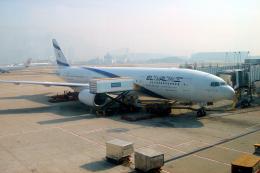 yabyanさんが、香港国際空港で撮影したエル・アル航空 777-258/ERの航空フォト(飛行機 写真・画像)