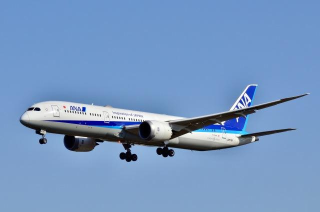 ウィングはくつるさんが、成田国際空港で撮影した全日空 787-9の航空フォト(飛行機 写真・画像)
