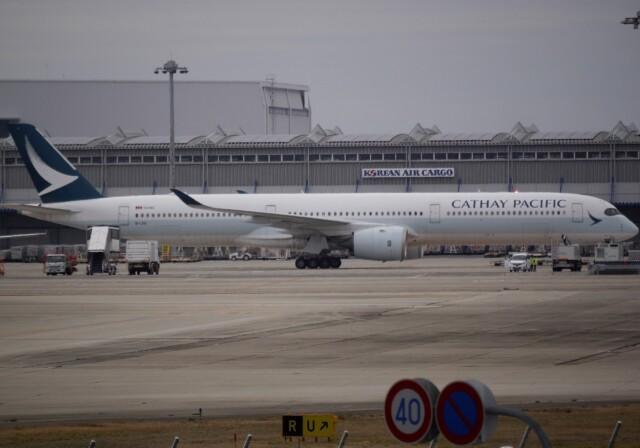 takikoki50000さんが、関西国際空港で撮影したキャセイパシフィック航空 A350-1041の航空フォト(飛行機 写真・画像)