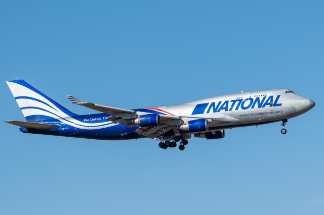 gomaさんが、ミュンヘン・フランツヨーゼフシュトラウス空港で撮影したナショナル・エアラインズ 747-428(BCF)の航空フォト(飛行機 写真・画像)