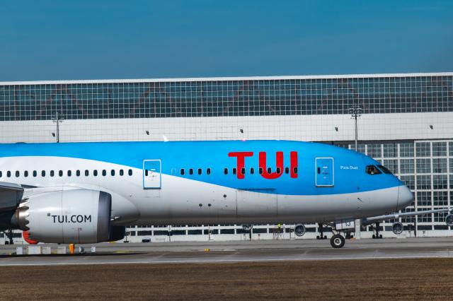 gomaさんが、ミュンヘン・フランツヨーゼフシュトラウス空港で撮影したトゥイ・エアウェイズ 787-9の航空フォト(飛行機 写真・画像)