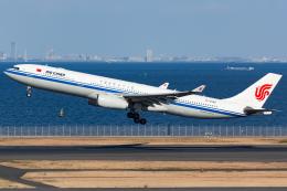 KoshiTomoさんが、羽田空港で撮影した中国国際航空 A330-343Eの航空フォト(飛行機 写真・画像)