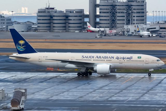 KoshiTomoさんが、羽田空港で撮影したサウジアラビア航空 777-268/ERの航空フォト(飛行機 写真・画像)