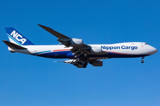 KoshiTomoさんが、成田国際空港で撮影した日本貨物航空 747-8KZF/SCDの航空フォト(飛行機 写真・画像)