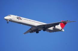 航空フォト:JA005D 日本航空 MD-90