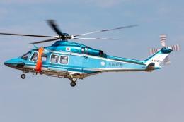 T spotterさんが、名古屋飛行場で撮影した大阪府警察 AW139の航空フォト(飛行機 写真・画像)