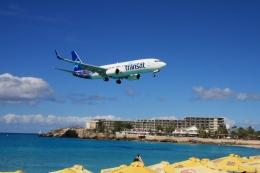 Hiro-hiroさんが、プリンセス・ジュリアナ国際空港で撮影したエア・トランザット 737-8FHの航空フォト(飛行機 写真・画像)