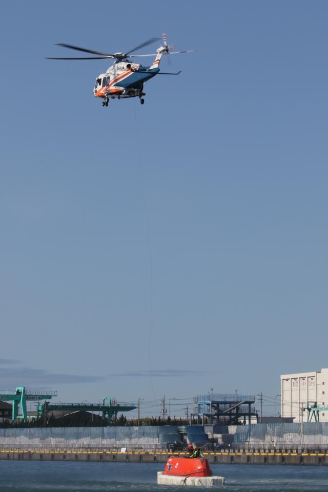 ゴンタさんが、静岡県大井川港で撮影した静岡県消防防災航空隊 AW139の航空フォト(飛行機 写真・画像)