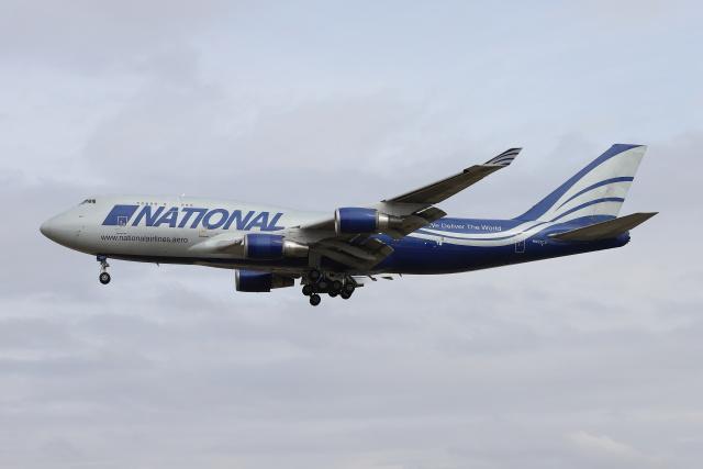 マーサさんが、成田国際空港で撮影したナショナル・エアラインズ 747-428(BCF)の航空フォト(飛行機 写真・画像)