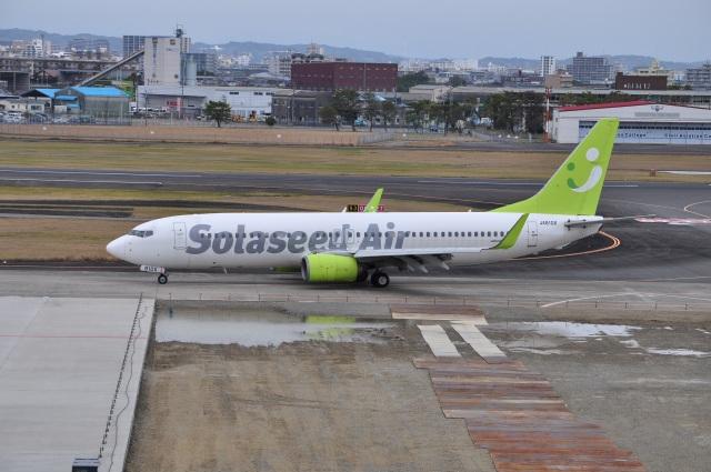うすさんが、宮崎空港で撮影したソラシド エア 737-86Nの航空フォト(飛行機 写真・画像)