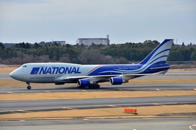 ちかぼーさんが、成田国際空港で撮影したナショナル・エアラインズ 747-428(BCF)の航空フォト(飛行機 写真・画像)