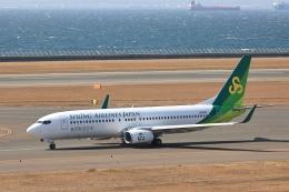 わんだーさんが、中部国際空港で撮影した春秋航空日本 737-8ALの航空フォト(飛行機 写真・画像)