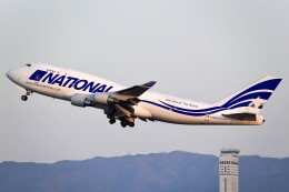 ほたるいかさんが、関西国際空港で撮影したナショナル・エアラインズ 747-412(BCF)の航空フォト(飛行機 写真・画像)