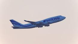 FLYPEAKSさんが、関西国際空港で撮影したナショナル・エアラインズ 747-412(BCF)の航空フォト(飛行機 写真・画像)