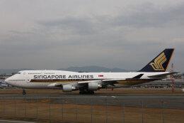 SGさんが、福岡空港で撮影したシンガポール航空 747-412の航空フォト(飛行機 写真・画像)
