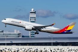 Ariesさんが、関西国際空港で撮影したアシアナ航空 A350-941の航空フォト(飛行機 写真・画像)