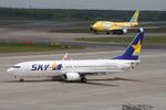 WING_ACEさんが、新千歳空港で撮影したスカイマーク 737-81Dの航空フォト(飛行機 写真・画像)