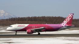Cassiopeia737さんが、新千歳空港で撮影したピーチ A320-214の航空フォト(飛行機 写真・画像)