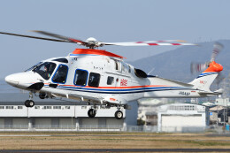 ほてるやんきーさんが、八尾空港で撮影した朝日新聞社 AW169の航空フォト(飛行機 写真・画像)