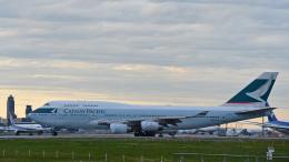 flytaka78さんが、成田国際空港で撮影したキャセイパシフィック航空 747-467の航空フォト(飛行機 写真・画像)