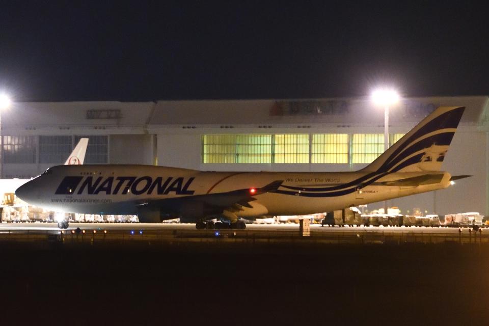 木人さんのナショナル・エアラインズ Boeing 747-400 (N729CA) 航空フォト