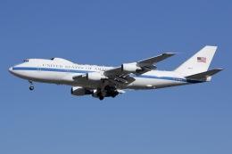 しゃこ隊さんが、横田基地で撮影したアメリカ空軍 E-4B (747-200B)の航空フォト(飛行機 写真・画像)