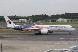 神宮寺ももさんが、成田国際空港で撮影したマレーシア航空 A350-941の航空フォト(飛行機 写真・画像)