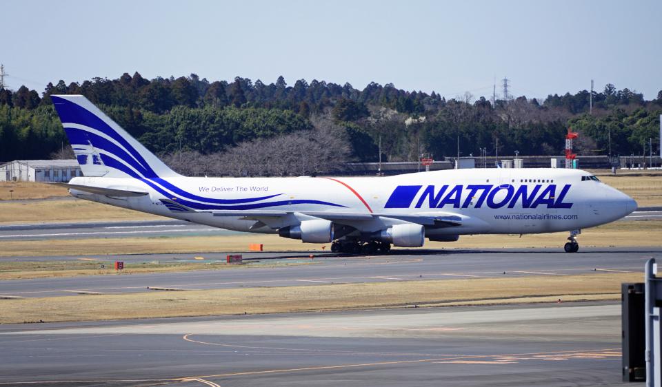 Nobu-oji_NEXUS6さんのナショナル・エアラインズ Boeing 747-400 (N729CA) 航空フォト