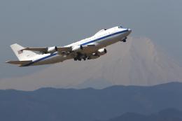 多摩川崎2Kさんが、横田基地で撮影したアメリカ空軍 E-4B (747-200B)の航空フォト(飛行機 写真・画像)