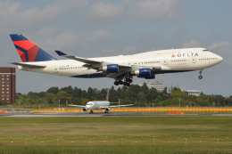 Deepさんが、成田国際空港で撮影したデルタ航空 747-451の航空フォト(飛行機 写真・画像)
