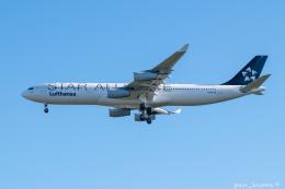 ぱん_くまさんが、成田国際空港で撮影したルフトハンザドイツ航空 A340-313Xの航空フォト(飛行機 写真・画像)