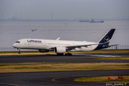 ぱん_くまさんが、羽田空港で撮影したルフトハンザドイツ航空 A350-941の航空フォト(飛行機 写真・画像)