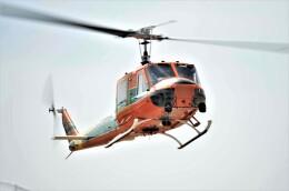 ヘリオスさんが、東京ヘリポートで撮影したアカギヘリコプター 204B-2(FujiBell)の航空フォト(飛行機 写真・画像)