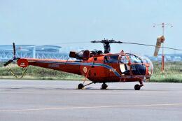 パール大山さんが、東京ヘリポートで撮影した新日本ヘリコプター SE-3160 Alouette IIIの航空フォト(飛行機 写真・画像)