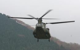 asuto_fさんが、日出生台演習場で撮影した陸上自衛隊 CH-47JAの航空フォト(飛行機 写真・画像)