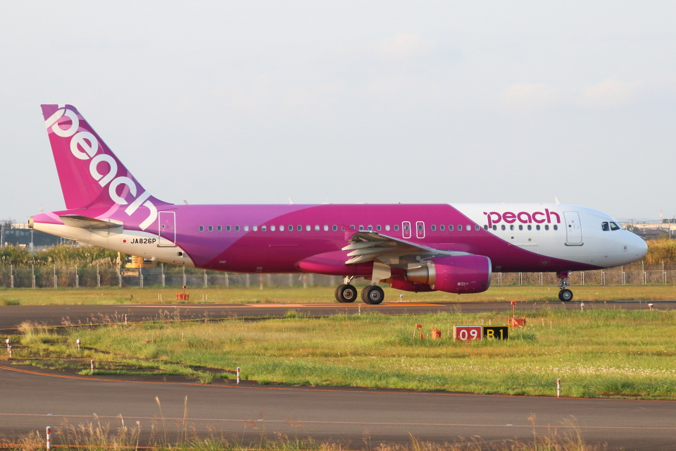 kunimi5007さんのピーチ Airbus A320 (JA826P) 航空フォト