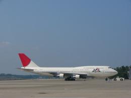 れぐぽよさんが、小松空港で撮影した日本航空 747-146B/SR/SUDの航空フォト(飛行機 写真・画像)