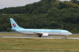 桃太郎LINEさんが、岡山空港で撮影した大韓航空 737-9B5の航空フォト(飛行機 写真・画像)