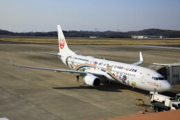 ピーチさんが、岡山空港で撮影した日本トランスオーシャン航空 737-8Q3の航空フォト(飛行機 写真・画像)