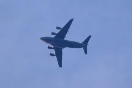レガシィさんが、宇都宮市上空で撮影したアメリカ空軍 C-17A Globemaster IIIの航空フォト(飛行機 写真・画像)