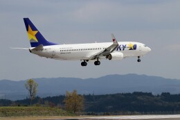 EosR2さんが、鹿児島空港で撮影したスカイマーク 737-8ALの航空フォト(飛行機 写真・画像)