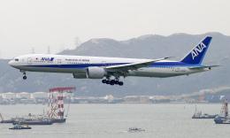 Asamaさんが、香港国際空港で撮影した全日空 777-381/ERの航空フォト(飛行機 写真・画像)