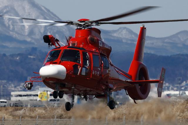 meskinさんが、仙台空港で撮影した宮城県防災航空隊 AS365N3 Dauphin 2の航空フォト(飛行機 写真・画像)