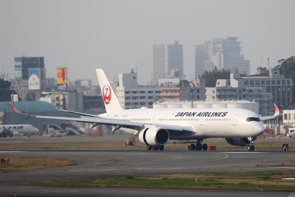 安芸あすかさんの日本航空 Airbus A350-900 (JA08XJ) 航空フォト