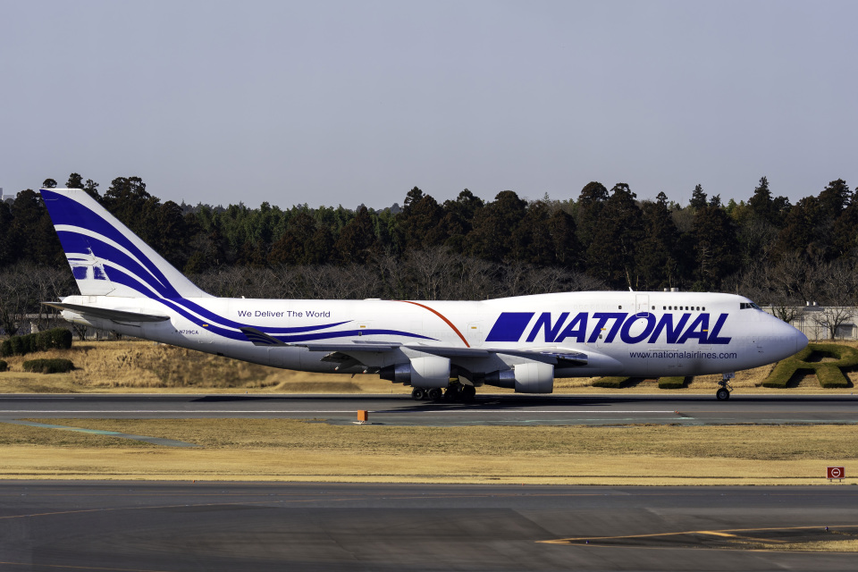 K.Sさんのナショナル・エアラインズ Boeing 747-400 (N729CA) 航空フォト