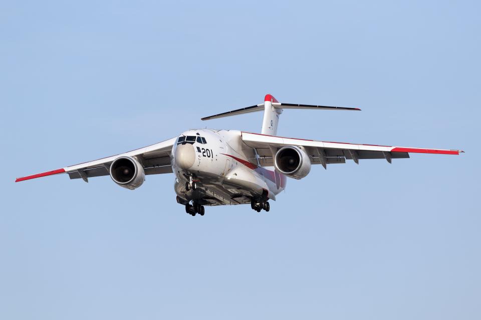 Echo-Kiloさんの航空自衛隊 Kawasaki C-2 (08-1201) 航空フォト