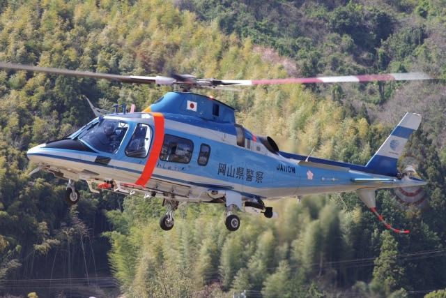 ラムさんが、静岡ヘリポートで撮影した岡山県警察 A109E Powerの航空フォト(飛行機 写真・画像)